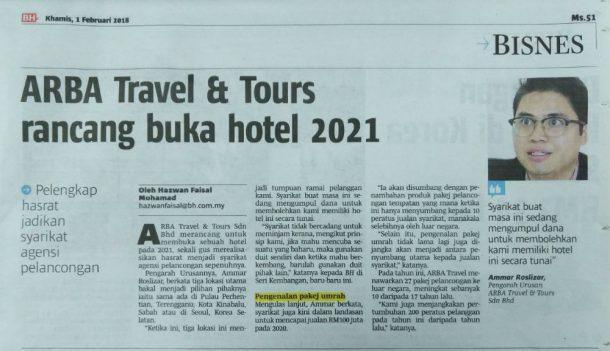 ARBA Travel Berita Harian